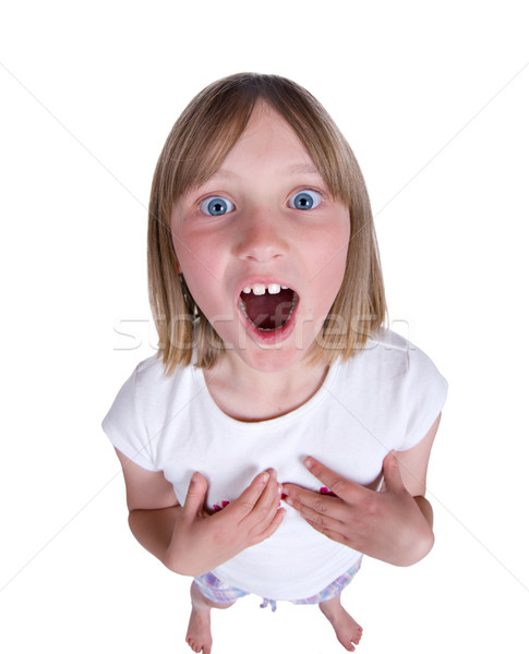 girl singing or shouting Stock photo © clearviewstock