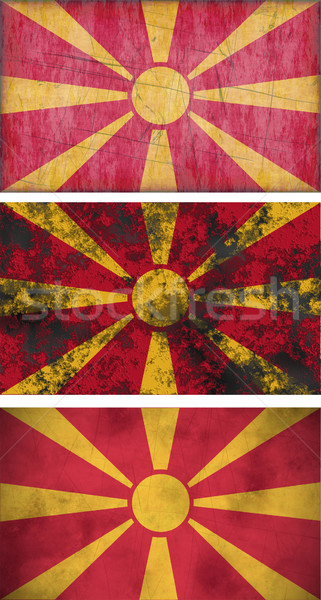 флаг Македонии изображение фон Vintage Сток-фото © clearviewstock