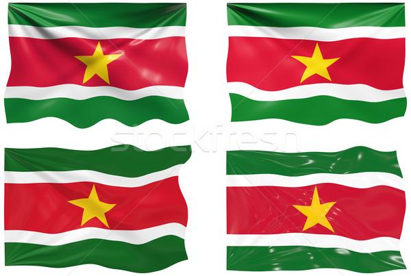флаг Суринам изображение Сток-фото © clearviewstock