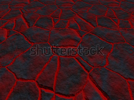 lava through the cracks Stock photo © clearviewstock