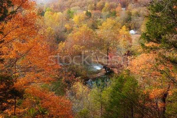 Geçit bahar değirmen ev düşmek bakıyor Stok fotoğraf © clearviewstock