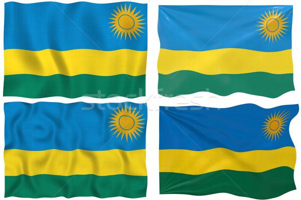 Flag of Rwanda Stock photo © clearviewstock