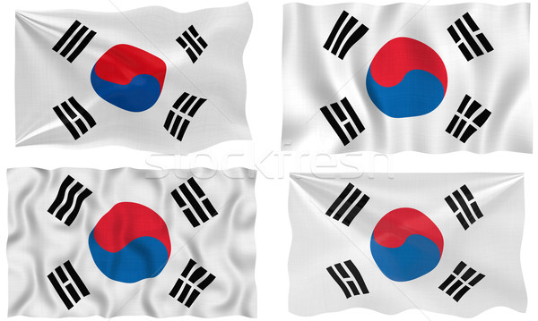 Flag of South Korea Stock photo © clearviewstock