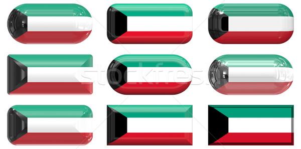 Сток-фото: девять · стекла · Кнопки · флаг · Кувейт
