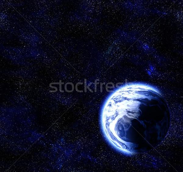 Planeet ruimte groot afbeelding Blauw aarde Stockfoto © clearviewstock
