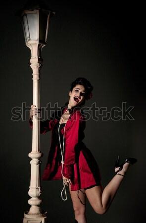 Mulher jovem belo jovem mulher feliz Foto stock © clearviewstock