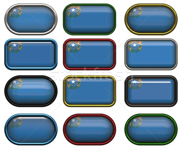 12 düğmeler bayrak Nevada oniki muhteşem Stok fotoğraf © clearviewstock
