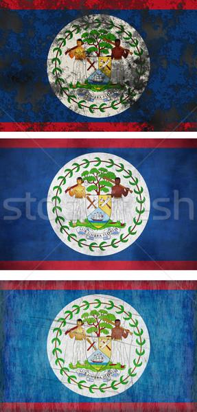 Zászló Belize nagyszerű kép Stock fotó © clearviewstock