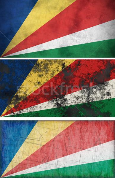 Zászló Seychelle-szigetek nagyszerű kép Stock fotó © clearviewstock