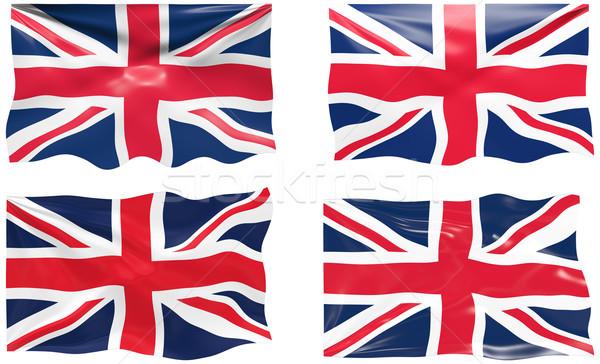 Bandiera Regno Unito immagine tessuto Inghilterra Foto d'archivio © clearviewstock