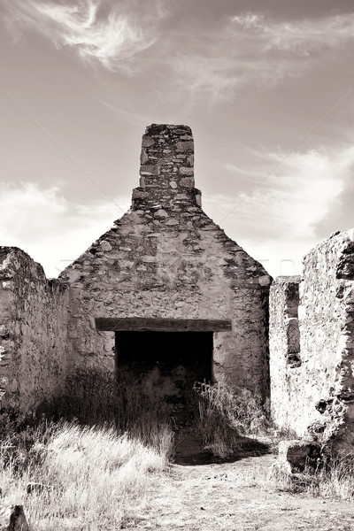 ruins bw Stock photo © clearviewstock