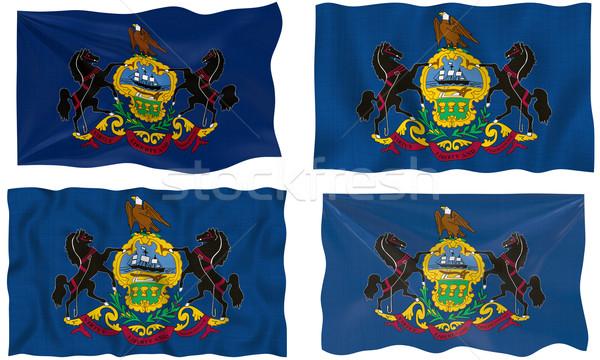Zászló Pennsylvania nagyszerű kép Stock fotó © clearviewstock