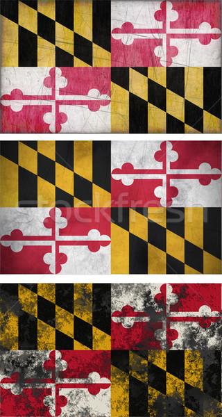 флаг Мэриленд изображение фон грязные Сток-фото © clearviewstock