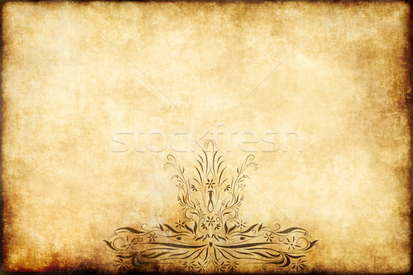 old regal parchment paper Stock photo © clearviewstock