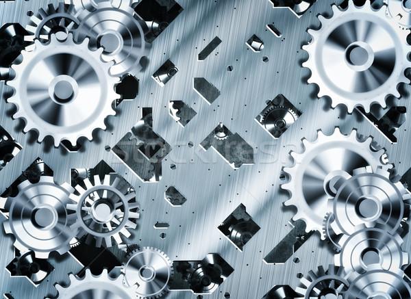 Steampunk fogaskerekek sebességváltó illusztráció óra ipar Stock fotó © clearviewstock