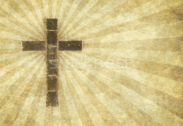 Christian cross pergamena immagine carta Foto d'archivio © clearviewstock