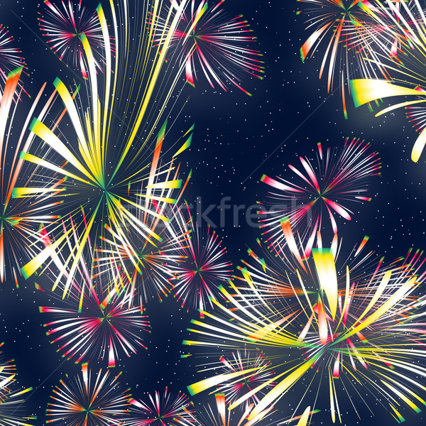 Feux d'artifice Nice illustration lumineuses coloré feu Photo stock © clearviewstock