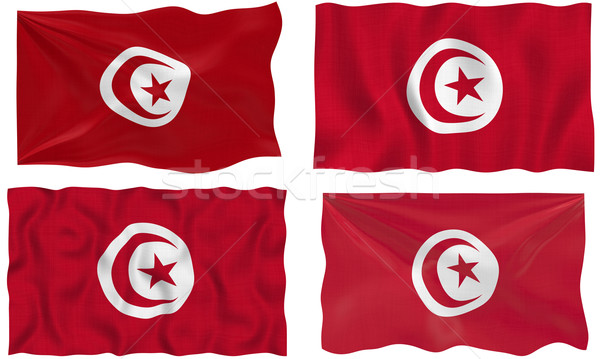 Flag of Tunisia Stock photo © clearviewstock