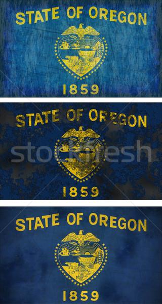 Vlag Oregon groot afbeelding achtergrond vuile Stockfoto © clearviewstock