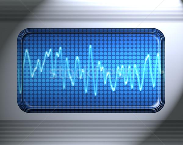 Hang audio hullám fém panel zene Stock fotó © clearviewstock