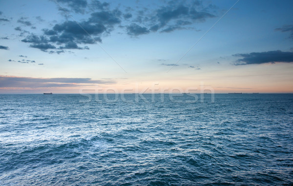 海 波 日没 美しい ニューカッスル オーストラリア ストックフォト © clearviewstock