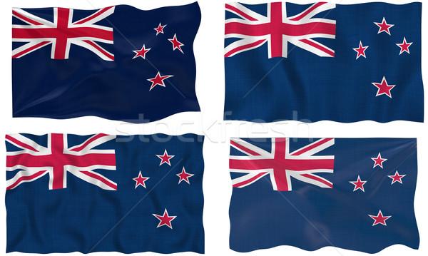 Stock fotó: Zászló · Új-Zéland · nagyszerű · kép