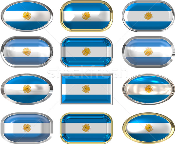 twelve buttons of the Flag of Argentina Stock photo © clearviewstock