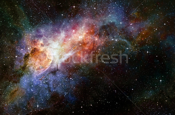 Сток-фото: глубокий · космическое · пространство · галактики · звезды · туманность