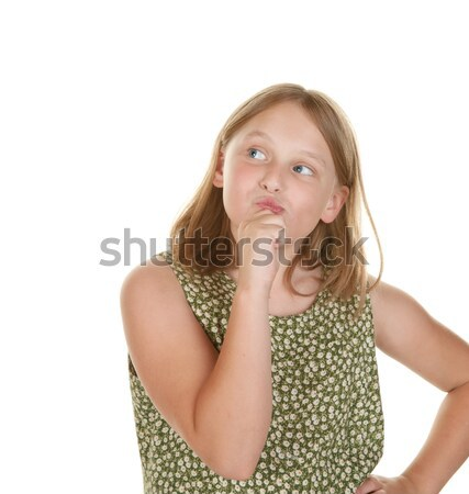young girl perplexed Stock photo © clearviewstock