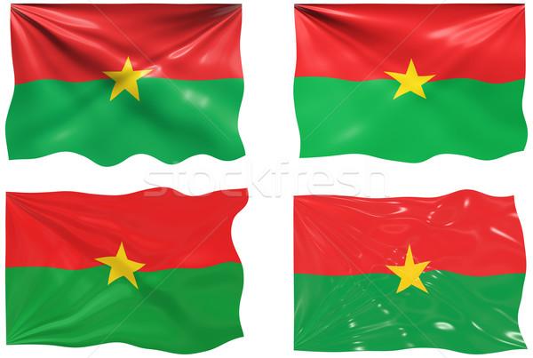Flag of Burkina Faso Stock photo © clearviewstock