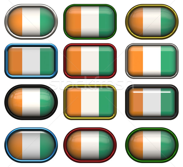 twelve buttons of the Flag of Cote d'Ivoire Stock photo © clearviewstock