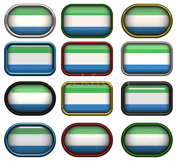 twelve buttons of the Flag of Sierra Leone Stock photo © clearviewstock
