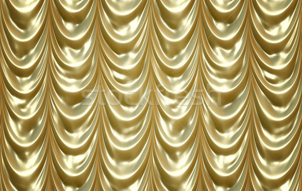 luxurious golden curtains Stock photo © clearviewstock