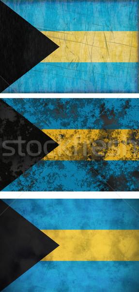 Zászló Bahamák nagyszerű kép három grunge Stock fotó © clearviewstock