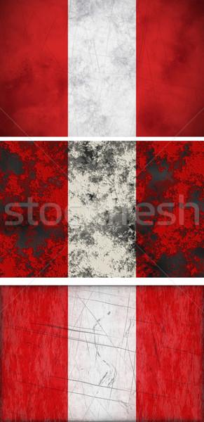 Bayrak Peru muhteşem görüntü Stok fotoğraf © clearviewstock