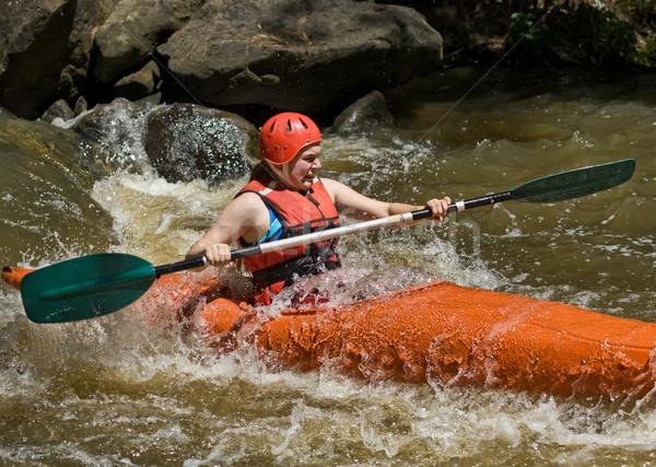 Kayak immagine adolescente Foto d'archivio © clearviewstock