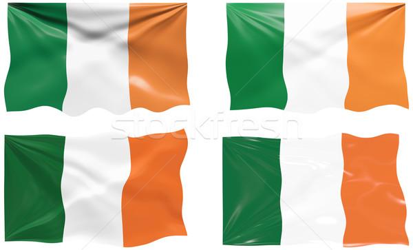 Vlag Ierland groot afbeelding Stockfoto © clearviewstock