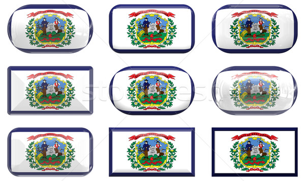 nine glass buttons of the Flag of West Virginia Stock photo © clearviewstock