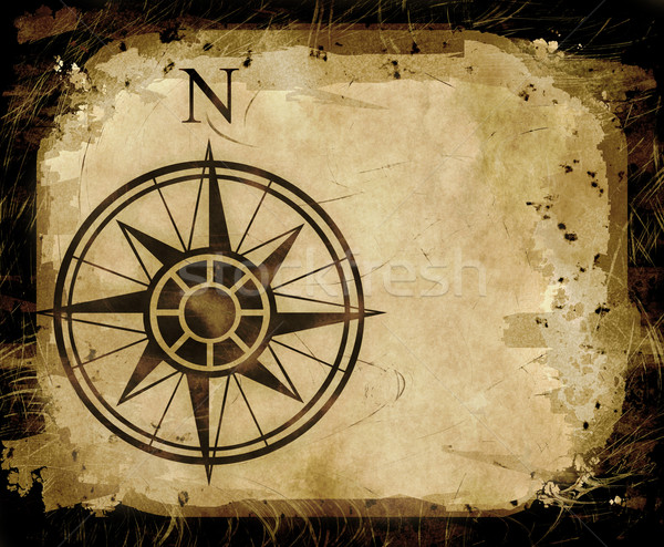 north compass map arrow  Stock photo © clearviewstock
