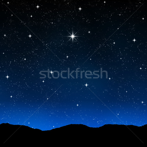 Csillagos ég éjszaka fényes űr csillagok Stock fotó © clearviewstock