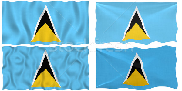 Flag of Saint Lucia Stock photo © clearviewstock