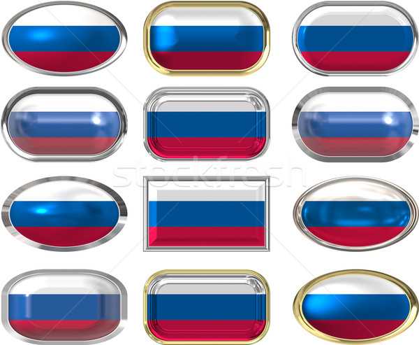 12 buttons of the Flag of the Russain Federation Stock photo © clearviewstock