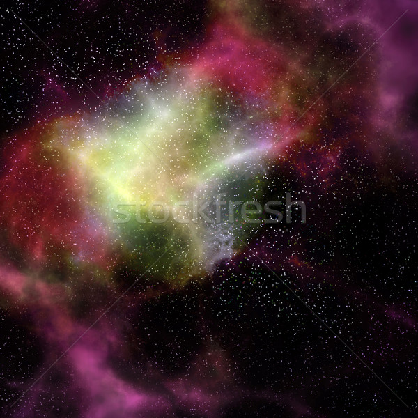 Espacio exterior nube nebulosa estrellas profundo gas Foto stock © clearviewstock