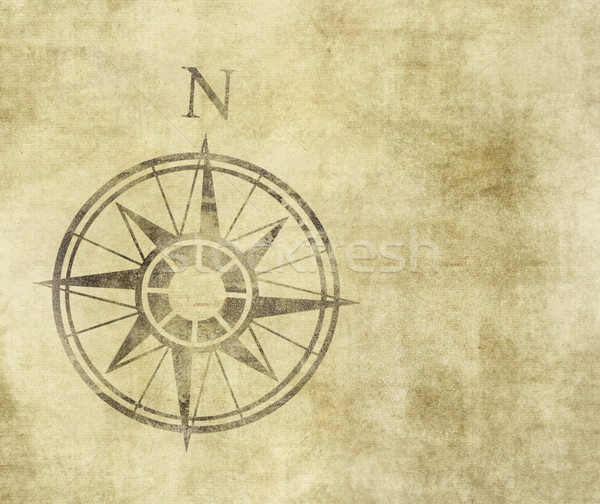 Settentrionale arrow pergamena bussola vecchia pergamena Foto d'archivio © clearviewstock