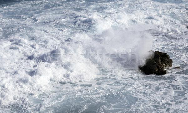 ocean waves crashing on rocks Stock photo © clearviewstock