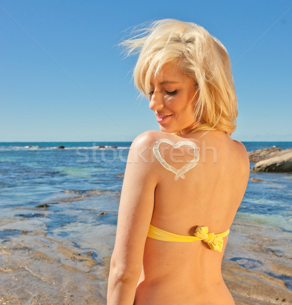 Protezione solare amore cuore bella a forma di cuore Foto d'archivio © clearviewstock