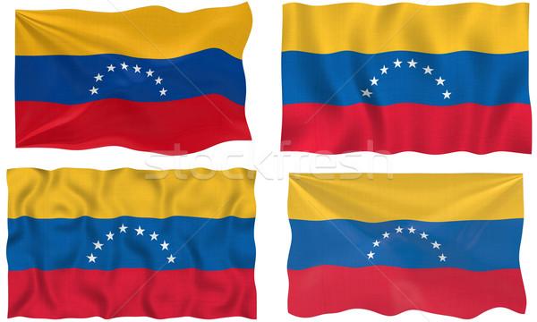 Bandeira Venezuela imagem Foto stock © clearviewstock