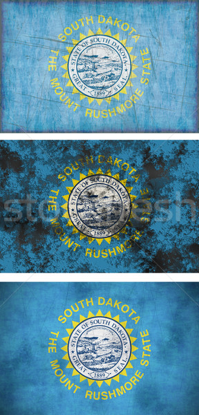 Stock fotó: Zászló · Dél-Dakota · nagyszerű · kép · háttér · szövet