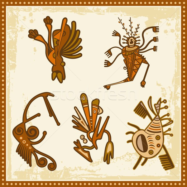 Vector set of African tribal ornaments. Stock photo © clipart_design