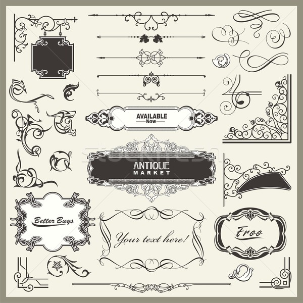 Stock photo: Vector set of exquisite ornamental and page decoration designs.